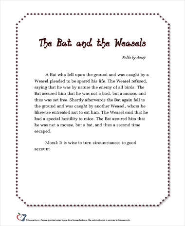 The Bat and the Weasels