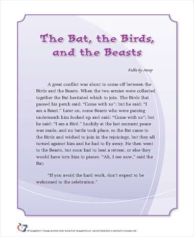 The Bat, the Birds and the Beasts