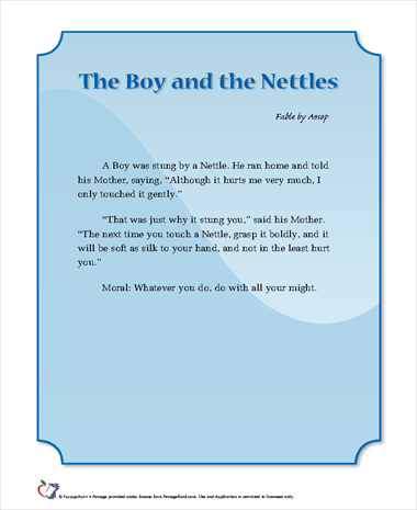 The Boy and the Nettles