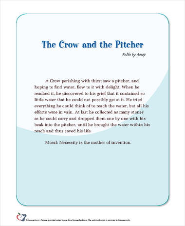The Crow and the Pitcher