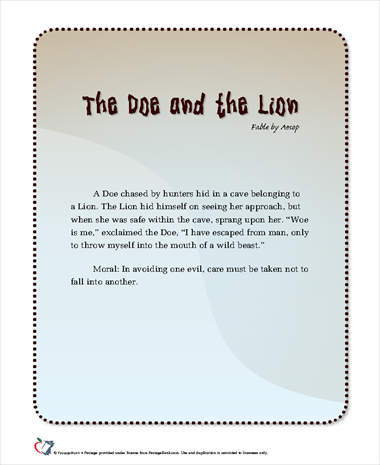 The Doe and the Lion