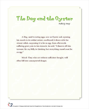 The Dog and the Oyster