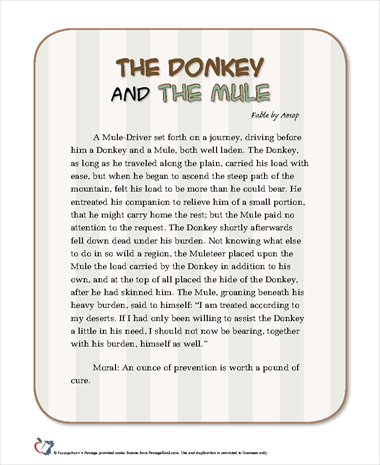 The Donkey and the Mule