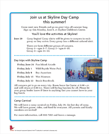 Join Us at Skyline Day Camp