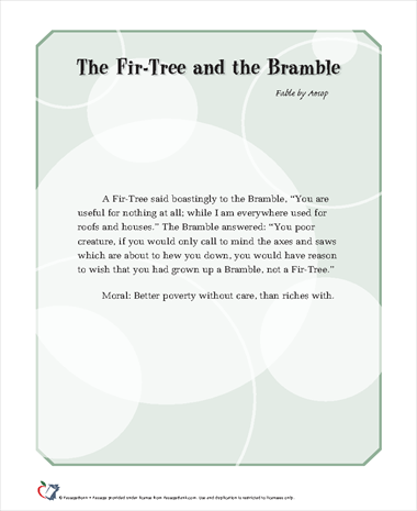 The Fir-Tree and the Bramble