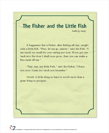 The Fisher and the Little Fish