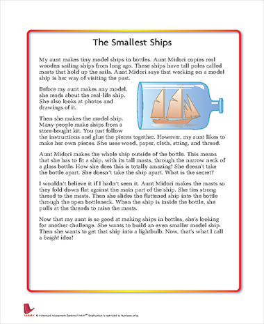 The Smallest Ships