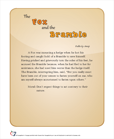 The Fox and the Bramble