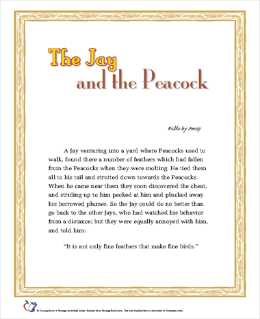 The Jay and the Peacock