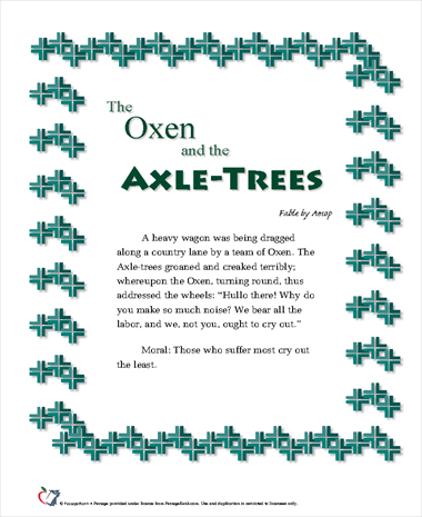 The Oxen and the Axle-Trees