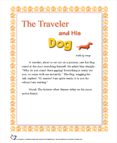 The Traveler and His Dog