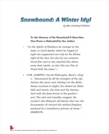 Snowbound: A Winter Idyl