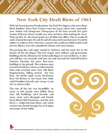 New York City Draft Riots of 1863