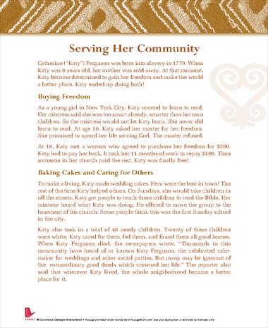 Serving Her Community