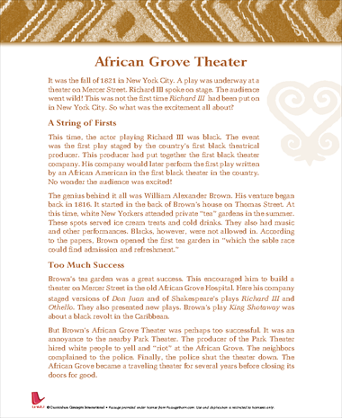 African Grove Theater