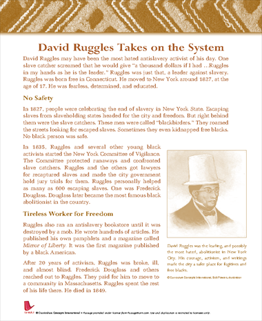 David Ruggles Takes on the System