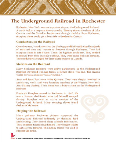 The Underground Railroad in Rochester