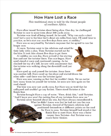 How Hare Lost a Race