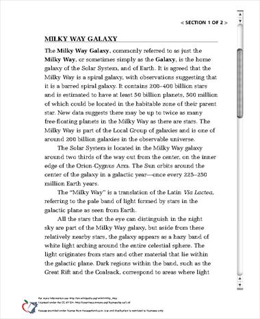 The Milky Galaxy