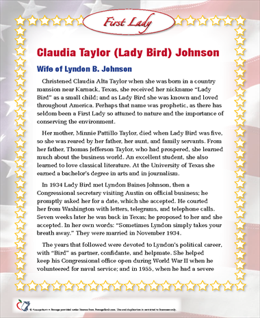 Claudia Taylor (Lady Bird) Johnson