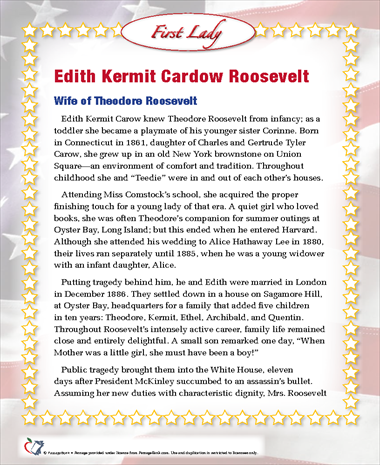 Edith Kermit Cardow Roosevelt