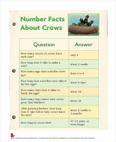Number Facts About Crows
