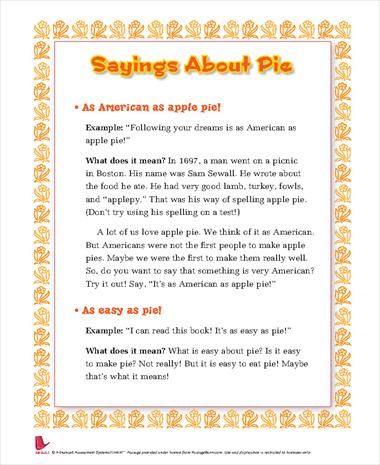 Pie Sayings