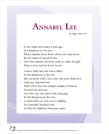 what should i write my college about annabel lee essay love is the main theme of the poem which is clearly traced from the beginning till the end although being quite optimistic at the beginning the poem ends