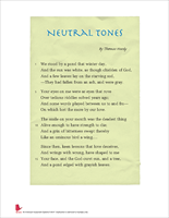 Neutral tones by thomas hardy