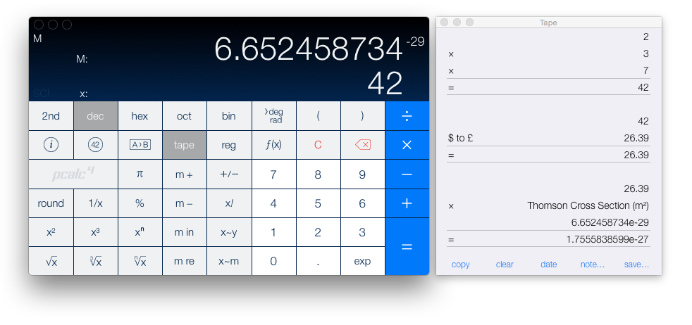 PCalc on Yosemite