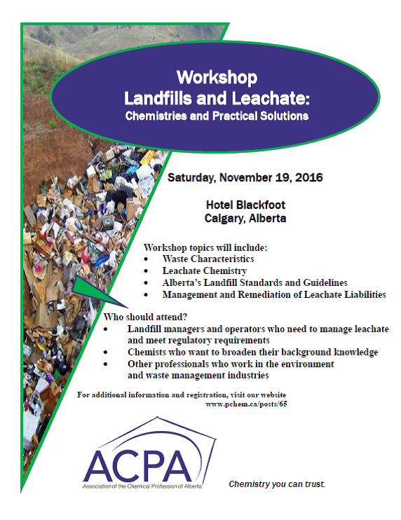 Landfills and Leachate: Chemistries and Practical Solutions
