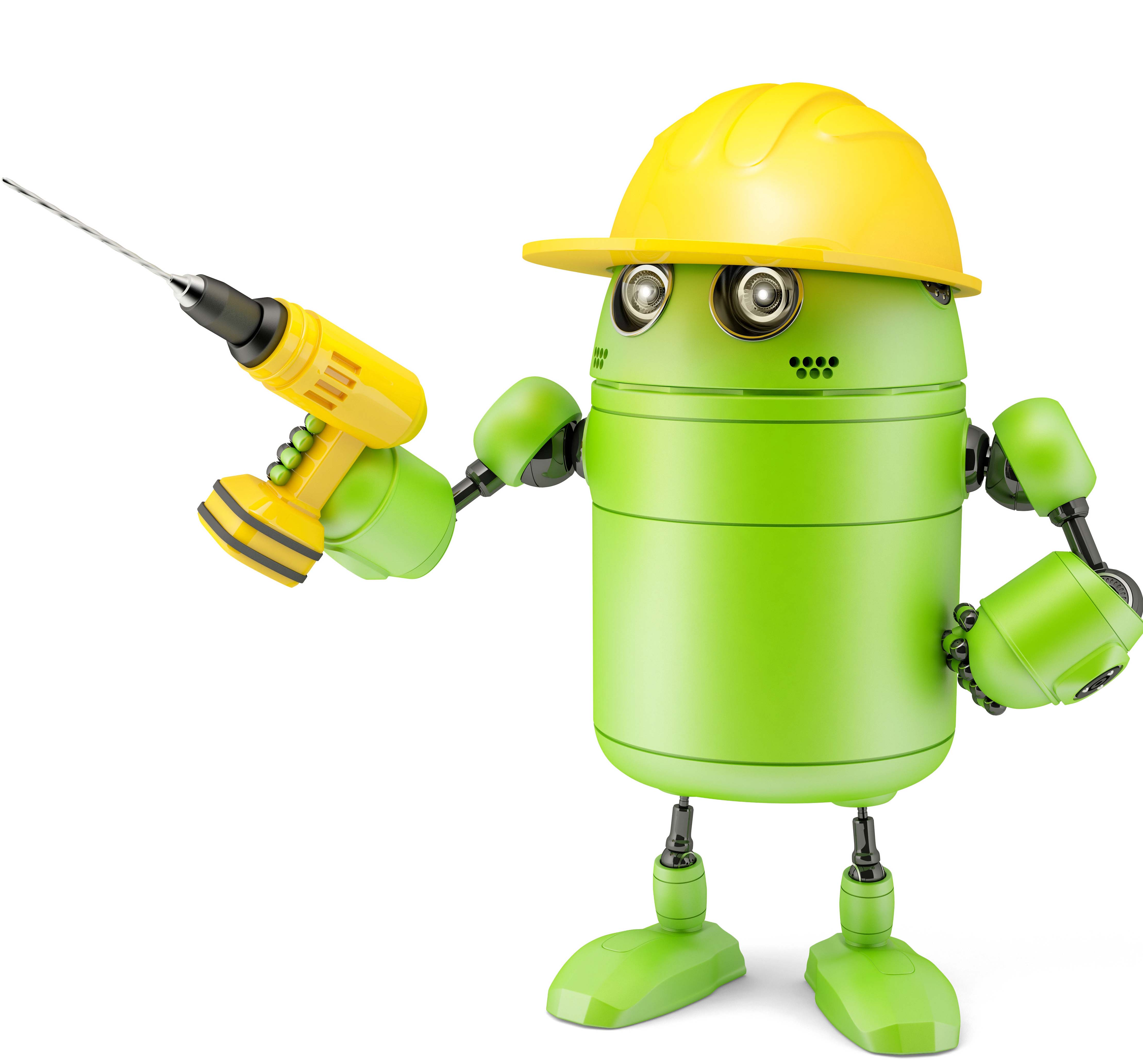 Android Robot With Drill Technology, Storyblocks