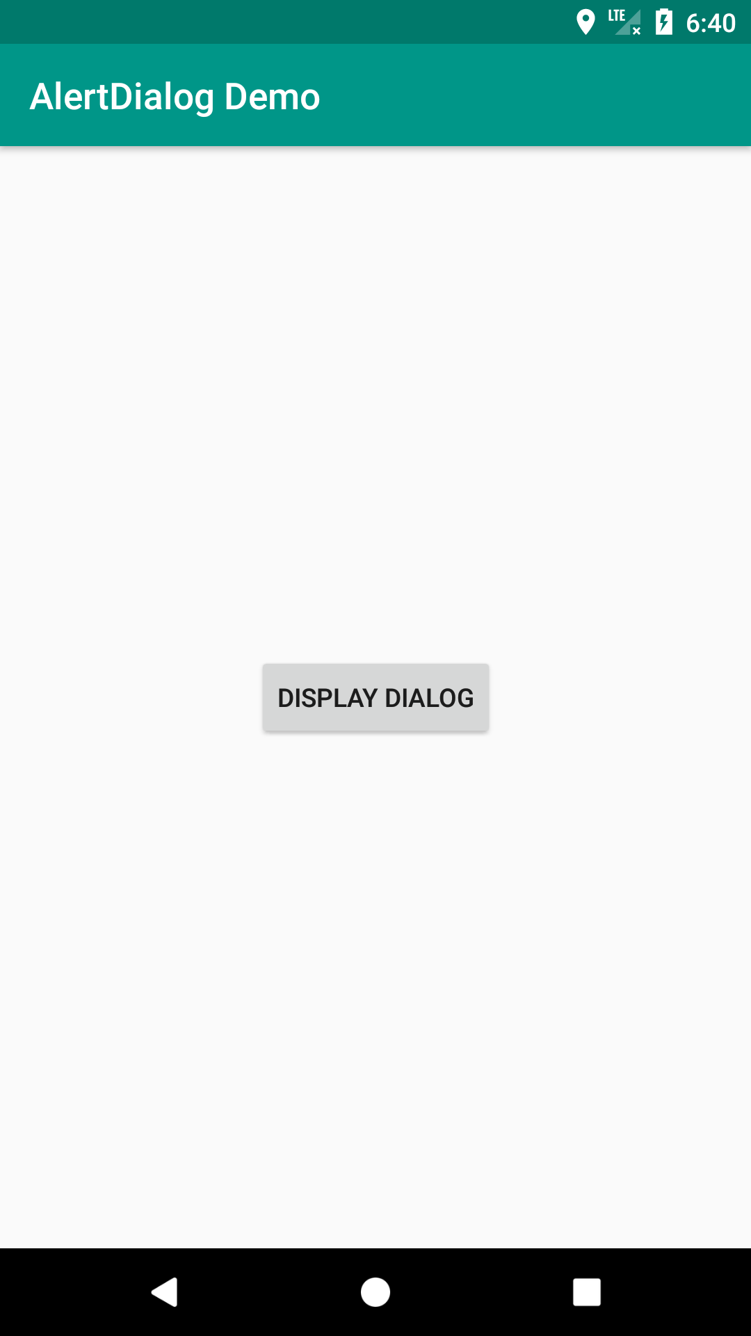 display alertdialog