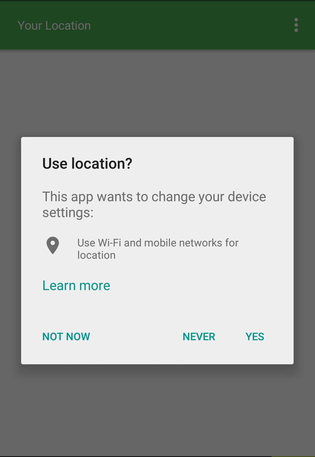 Enable location services - Places