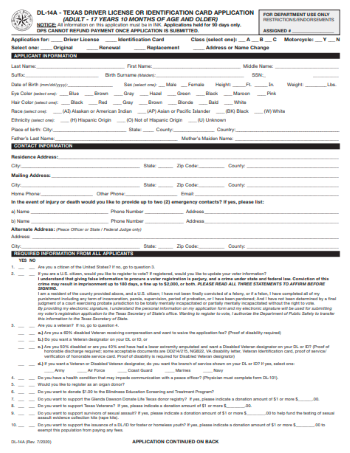 Form DL-14A (2021)
