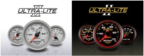 Auto Meter Ultra-Lite II Full Sweep Electric Transmission Temperature Gauge  0-260 Degrees 4957