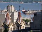 Vistas de la arquitectura y la bahía