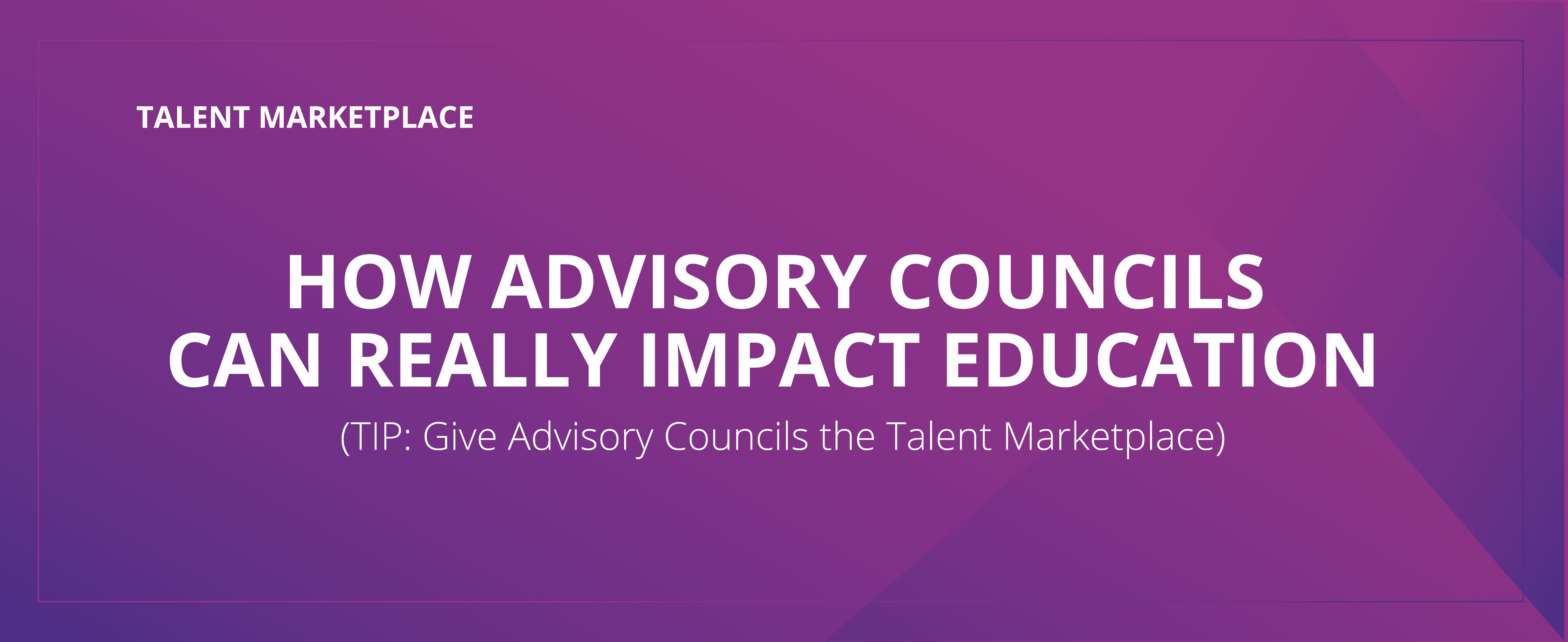 How Advisory Councils Impact Education
