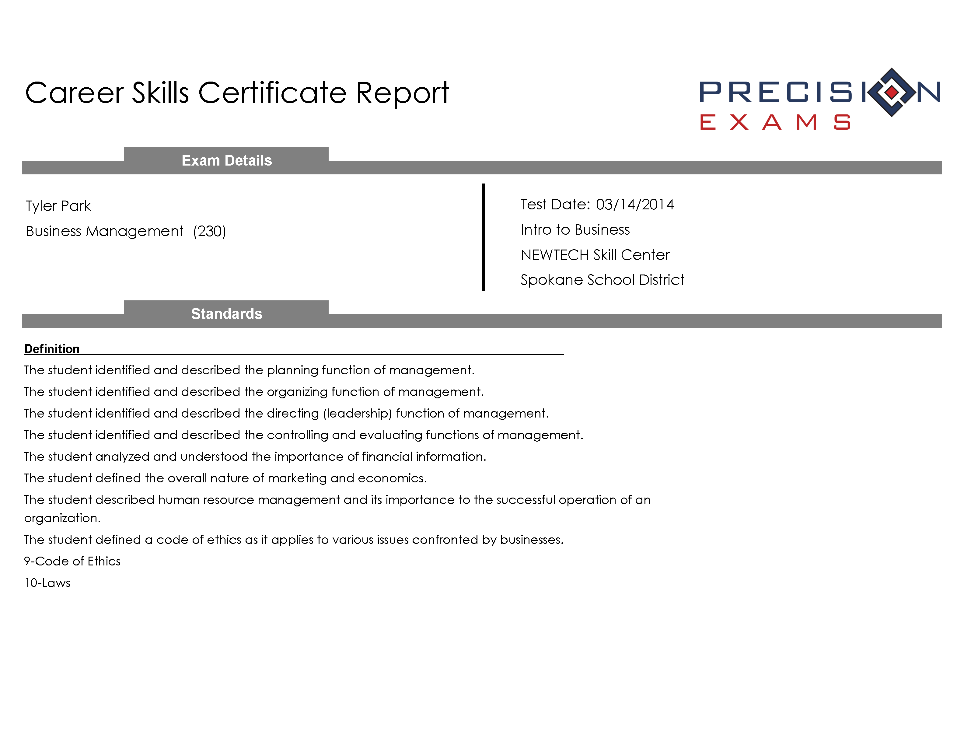 Resume Tips And Templates For Cte Students Precision Exams