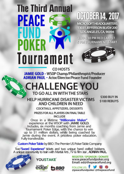 The Third Annual Peace Fund Poker Tournament