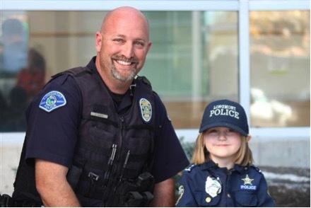 Sidney Fahrenbruch and Officer David Bonday