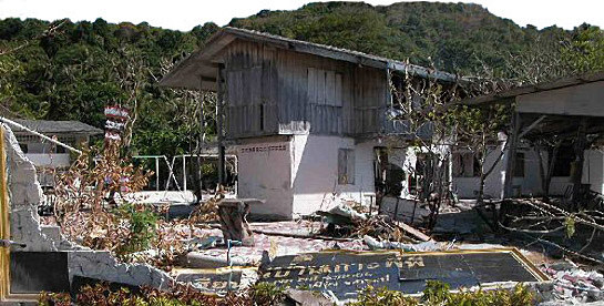 The Phi Phi Elementary School after the tsunami