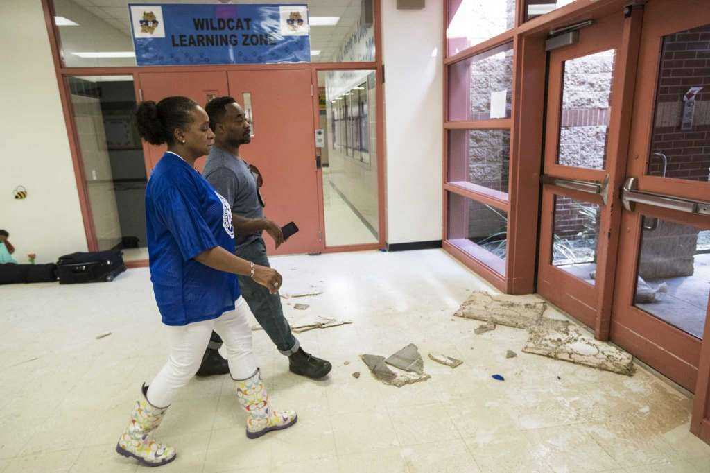 Hilliard Elementary After Flooded With 4 Feet of Water