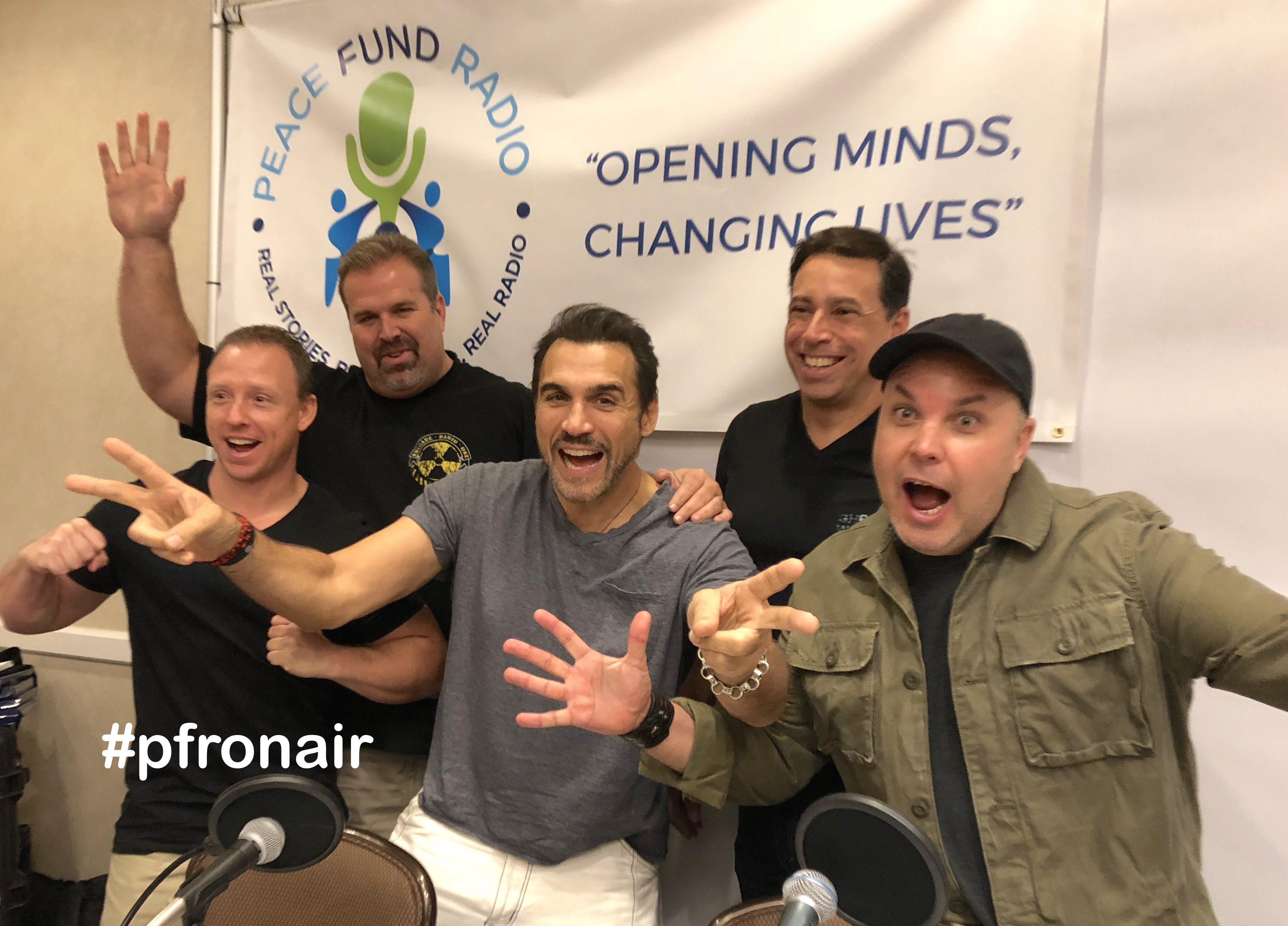 Kevin Otte, Ethan Dettenmaier, Adrian Paul, Paul Roberts and Neo Edmund