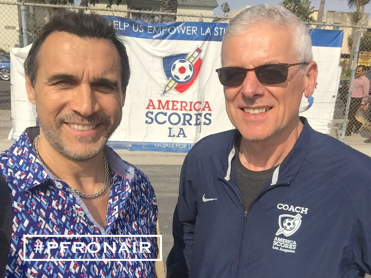 Adrian with Geoff Wilson, Executive Director America Scores LA
