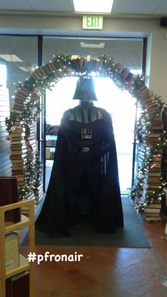 Darth Vader Stopped by Open Book