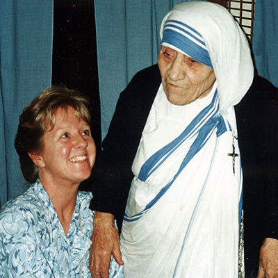Lori with Mother Teresa