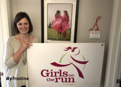 Cathy Kruse at Girls on the Run Chicago
