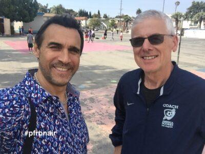 Adrian and Geoff Wilson at America Scores LA