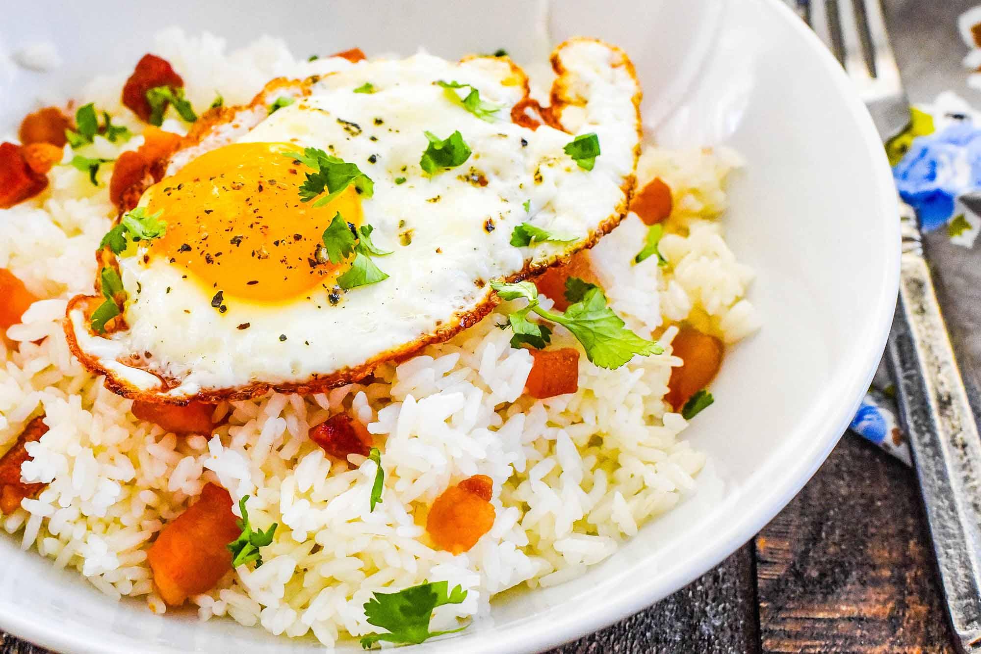 Arroz con Tocino (Puerto Rican Rice with Salt Pork)